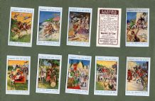 TRADE/ cigarette cards set Humourous Peeps into History Robin Hood, Magna Charta